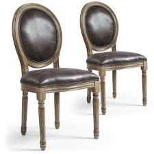 chaises m daillon chaises louis xvi lot de 2 style m daillon xvi tissu effet peau