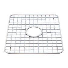 protege evier cuisine grille en acier inoxydable poli avec trou pour évier rona