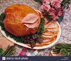 smoked ham fully cooked whole spiral ham dinner platter garnish