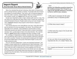 reading comprehension questions 4th grade import export lexile reading passages and reading comprehension
