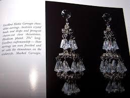 Beaded Chandelier Clip Earrings White Hattie Carnegie Austrian Crystal Chandelier Clip Earrings From