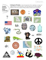 categories u2013 word lists activities worksheets and more free