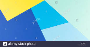 color papers geometry flat composition background with yellow and