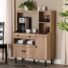 kitchen storage cabinets with drawers baxton studio patterson modern and contemporary modern oak brown finished wood 3 door kitchen storage cabinet wholesale interiors mh8695 oak cabinet