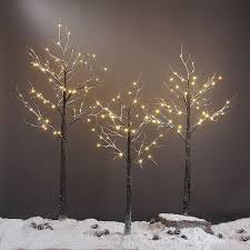 lightshare snow dusted tree 4ft home kitchen