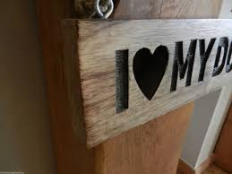 graham shabby chic i love my dog chunky sign gift wooden next post