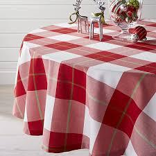 60 plaid tablecloth crate and barrel