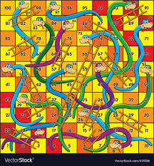 snakes and ladders royalty free vector image vectorstock