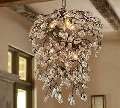 Pottery Barn Chandelier Shades Clear Crystal Round Chandelier