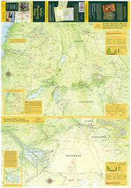 Victoria Falls Map African Safari Books Field Guides And Maps
