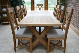 Large Oak Kitchen Table by Cross Leg Dining Tables Extending X Leg Tables Oxbow Table