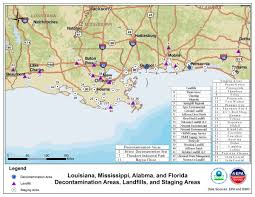Gulf Stream Map Waste Management On The Gulf Coastline Epa Response To Bp Spill