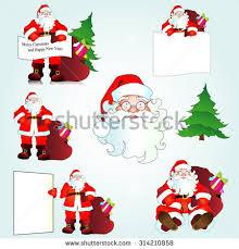 illustration printable flash card christmas set stock vector
