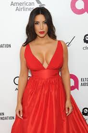 or not kim kardashian in celia kritharioti red gown at the