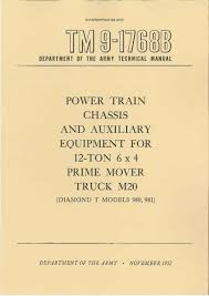 diamond t paperprint wwii military vehicle manuals