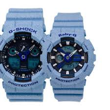 light blue g shock watch casio baby g g shock couple watch ba110de 2a2 ga100de 2a ebay