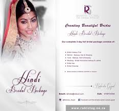 bridal makeup package the bridal stylist rahista gopal hair salon durban kwazulu