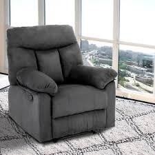 leather rocking sofa single recliner chair couch cushion with