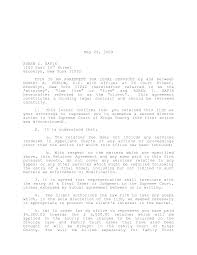 Child Support Letter Agreement Template Template For Child Custody Agreement
