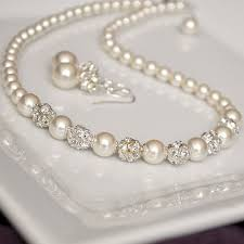ivory pearl pearl bridal necklace ivory pearl wedding necklace wedding