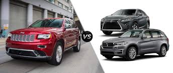 bmw jeep 2017 2015 jeep grand cherokee vs 2015 lexus rx vs 2015 bmw x5 mac