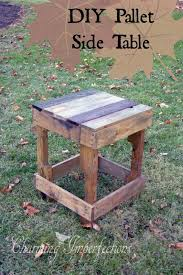 Wood Plans For Bedside Table by Best 25 Pallet Side Table Ideas On Pinterest Diy Living Room