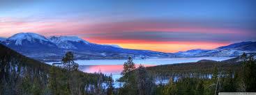 mountain lake sunset nature hd desktop wallpaper widescreen