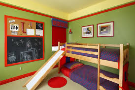 boys bedroom paint ideas stripes red glass laminate floating black