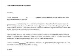 ideas of how to write reference letter for student scholarship