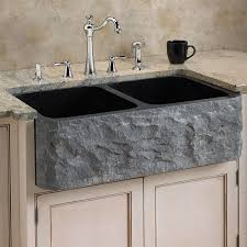 granite countertop black double kitchen sink faucet black