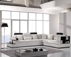 Modern Leather Couch Set White Leather Sectional Sofa Set 44lt117