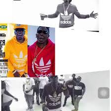 dancehall king shatta wale wore fake adidas hoodie