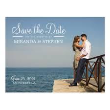 sweet modern wedding save the date photo postcard wedding save the
