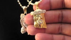 praying necklace gold micro mini jesus praying pendants w chain nas tyga