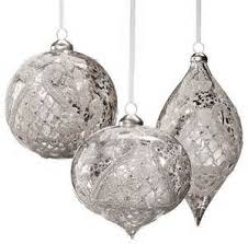 9 silver ornaments merry