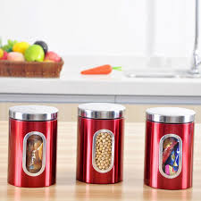 Red Kitchen Canisters - popular stainless kitchen canisters buy cheap stainless kitchen