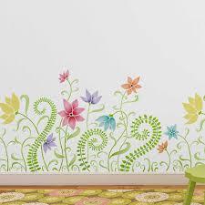 nursery stencil border reusable stencils for diy nursery wall decor