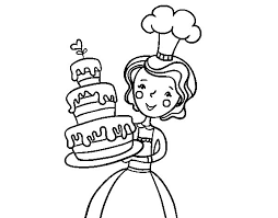homemade birthday cake coloring page coloringcrew com