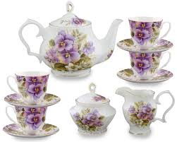thanksgiving china sets coastline imports 11 piece bone china pansy tea set u0026 reviews