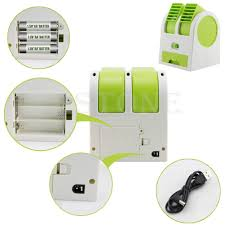 Desk Top Air Conditioner Mini Usb Small Fan Cooling Desktop Dual Bladeless Air Conditioner