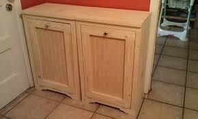 trash can cabinet lowes ana white wood tilt out trash bins diy projects trash can cabinet