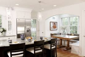 built in breakfast nook bench kitchen traditional with throw