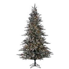 sterling 7 5 ft pre lit lightly flocked mckinley pine artificial