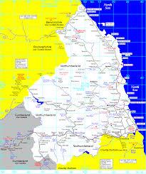 Ireland Rail Map Railway Map Of Northumberland Uk Waggonways