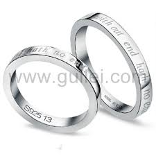 ring with name engraved 925 sterling silver name engravable commitment pair rings set