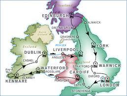 map uk ireland scotland 15 days ireland scotland tour