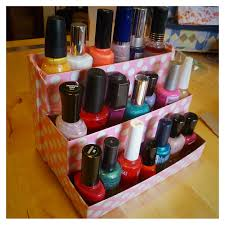 niki jin crafts diy birchbox nail polish rack