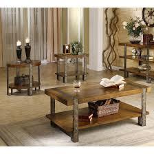 furniture distressed oak square coffee table glass top coffee