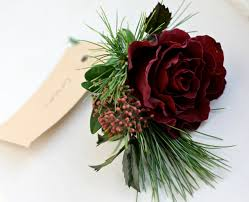 flower arrangement pictures with theme burgandy wedding snowflake theme winter buttonhole of burgundy