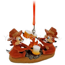 your wdw store disney figurine ornament chip and dale roasting
